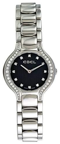 Ebel Beluga Mini Stainless Steel & Diamond Womens Watch Slate Grey Dial 1215867 9003N18391050