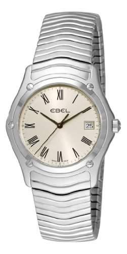 Ebel Herren 9255F416125 Classic Silver roemische Ziffer Zifferblatt