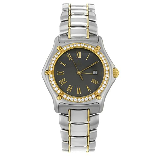 Ebel 1911 1087911 5260p 18 K Gold Stahl Quarz Herren Armbanduhr