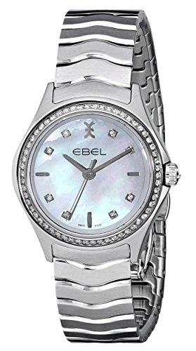 Ebel Damen 1216194 Wave Analog Display Swiss Quartz Silber Uhr