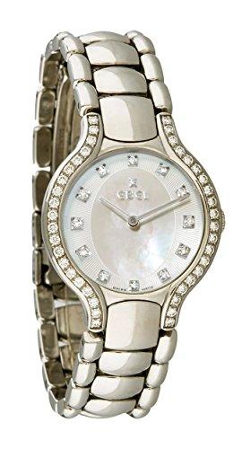 Ebel Beluga Stainless Steel Diamond Womens Watch MOP Silver Dial E9157428 30