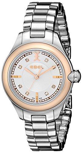 Ebel Damen 1216094 Onde diamond accented Stahl und Rose Gold Armbanduhr by Ebel