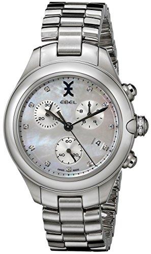 Ebel Onde 36mm Chronograph Armband Edelstahl Gehaeuse Schweizer Quarz 1216177