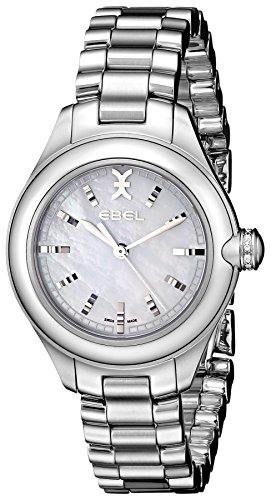 Ebel Onde 30mm Armband Edelstahl Gehaeuse Schweizer Quarz Zifferblatt Weiss 1216173