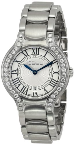 Ebel Beluga Stainless Steel Diamond Womens Luxury Watch Calendar 1216069