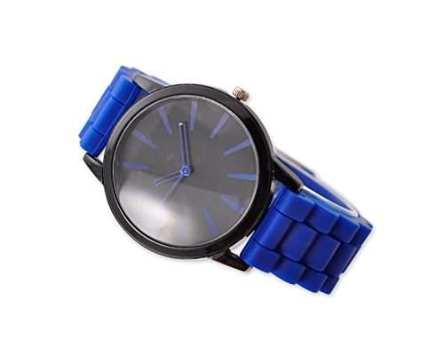 Geneva Unisex Silikon Liebhaber Herrenuhr Armbanduhren Analoges Maenner Quarzuhr Vatertag Geschenkuhr Modeuhr - Blau