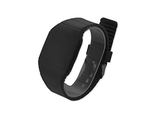 Water Resistant Touch Screen LED Digital Sportuhr Armbanduhr Kunststoff Band - Schwarz