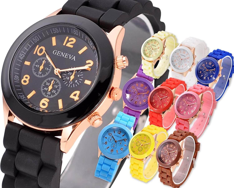10 Pcs Geneva Quarz Analoge Armbanduhr