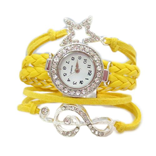 HITOP Fashion Vintage Cool Charms Damen Leder Einzigartige Gothic Unendliche Unendliche bohrt Sternen Strass Leder Armband Quarz Uhren Eine Vielzahl von Arten