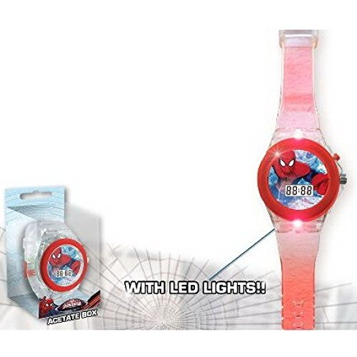 Armbanduhr LED digital Spiderman Marvel Kinder Inlineskater