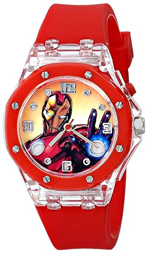 The Avengers Kids IRM3000 Iron Man Light Up Watch With Red Rubber Band
