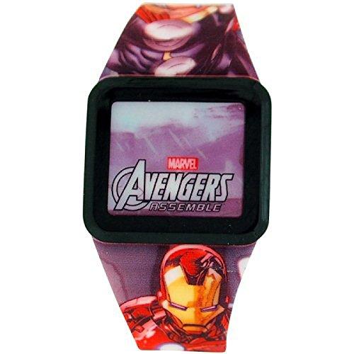 Avengers Jungen LED Touchscreen mehrfarbige Kautschukarmbanduhr AVG3522