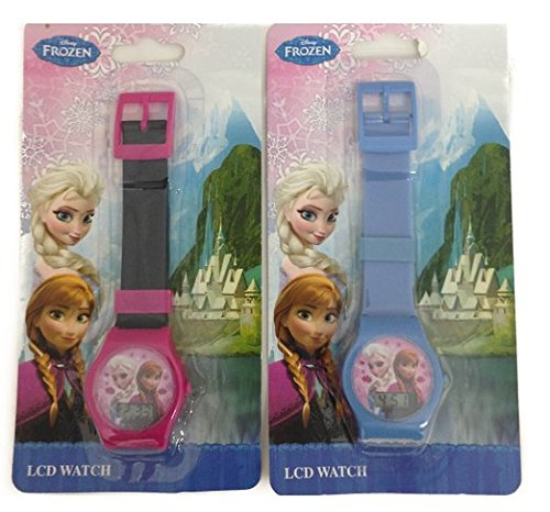 Disney Frozen Queen Elsa and Princess Anna Digital LCD Wrist Watch Boys Stocking Stuffer 2 Piece