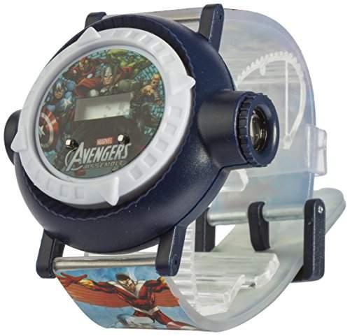 Marvel Avengers Kinder Quarz-Uhr mit Zifferblatt-Digital Display und Kunststoff-Gurt mar9