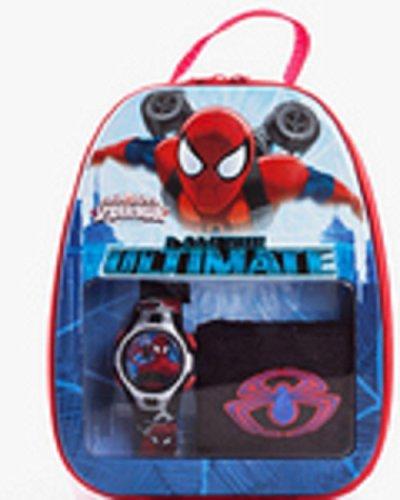 Marvel Ultimate Spider Man Blechdose Geschenk Set w Uhr Handgelenk Schweissband