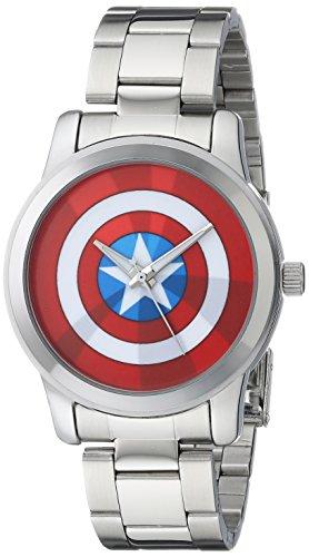 Marvel Herren w001780 The Avengers Captain America analog quartz Silber Armbanduhr