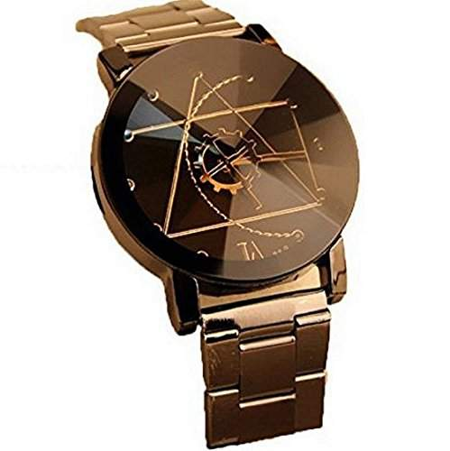 Sannysis Fashion Edelstahl Maenner Quartz Analog Armbanduhr