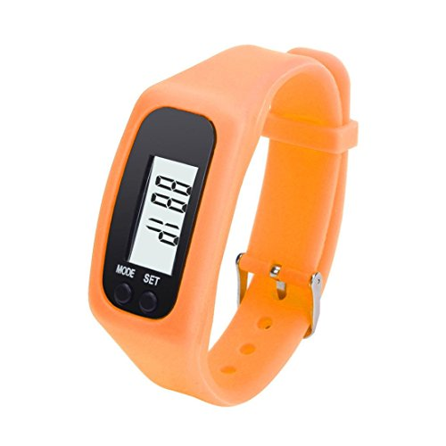 Sannysis Digital LCD Pedometer lassen Schritt Walking Distance Calorie Counter Uhrenarmband