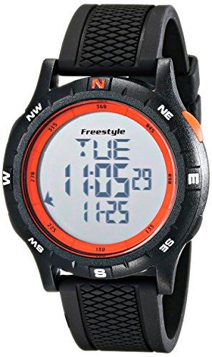 Freestyle 10017007 Herren Navigator 3 0 grau Digital Zifferblatt Schwarz Silikon Armbanduhr