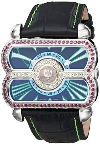 Brillier Damen 24-02Analog Display Swiss Quartz Black Watch
