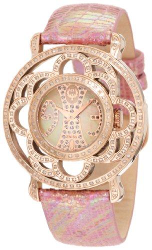 Brillier Damen 04 31325 07 Papillon Schweizer Quartz Mother Of Pearl Uhr