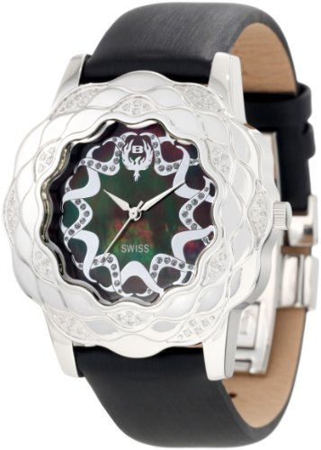 Brillier Damen 10 4F121 09 La Fleur runde Diamanten Edelstahl Analog Watch