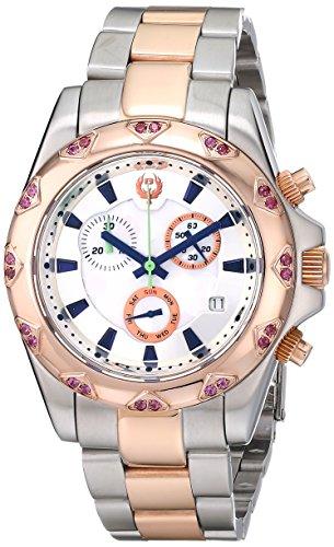 Brillier Damen 14 04 Analog Display Swiss Quarz Zweifarbige Armbanduhr