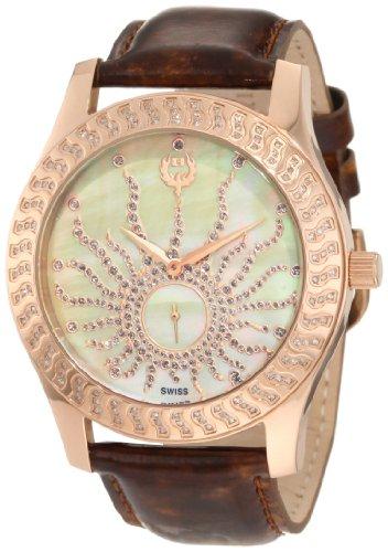 Brillier Damen 03 32325 08 Kalypso Rose Tone Brown Leder Uhr