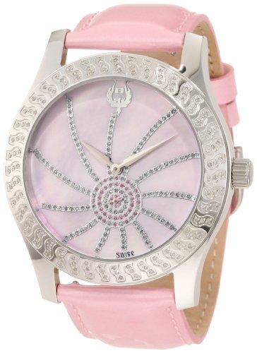 Brillier Damen 03 42327 05 Kalypso Silber Ton rosa Leder Uhr