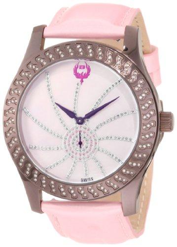 Brillier Damen 03 72327 12 Kalypso Plum Plated rosa Leder Uhr