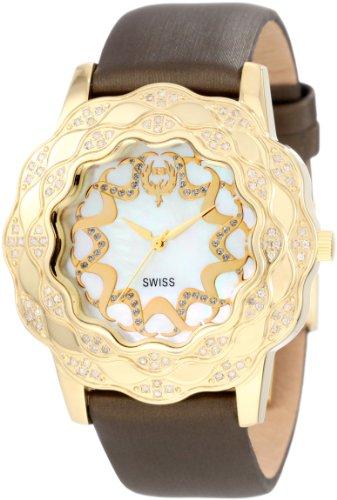 Brillier Damen 10 2A225 04 La Fleur Round Gold Diamanten Analog Watch