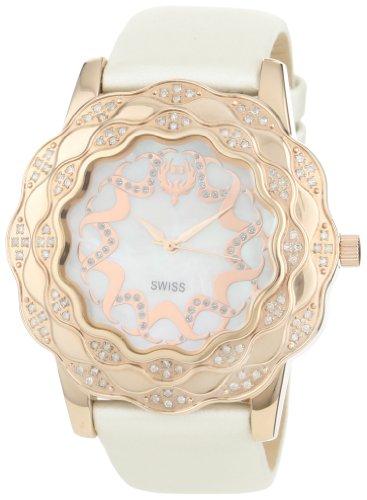Brillier Damen 10 3A324 02 La Fleur Round Rose Gold Diamanten Analog Watch