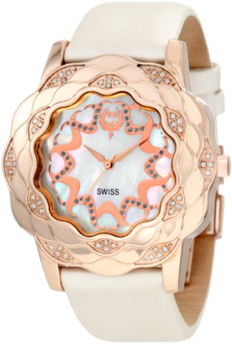 Brillier Damen 10 3F424 03 La Fleur Round Rose Gold Diamanten Analog Watch