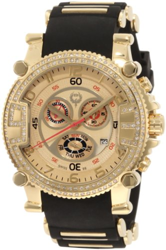 Brillier Herren 02 2 2 2 11 06 Grossmeister Tourer Gold Zifferblatt Black Rubber Uhr