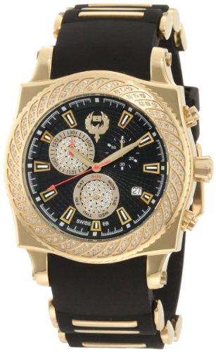 Brillier 01 2 2 1 11 5 Method Air Gold Tone Black Rubber Uhr