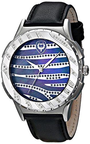 Brillier Unisex 12 01 Analog Display Swiss Quartz Black Watch