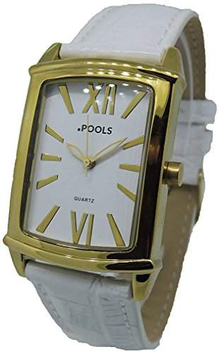 POOLS Damen-Armbanduhr Analog Quarz Leder 1236
