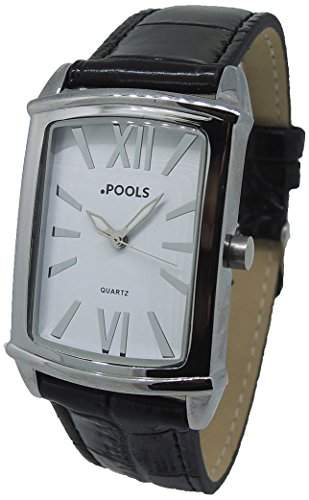 POOLS Damen-Armbanduhr Analog Quarz Leder 1237