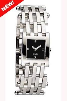 D&G Dolce&Gabbana Damen-Armbanduhr BELLEVUE SS BLACK DIAL BRC DW0405