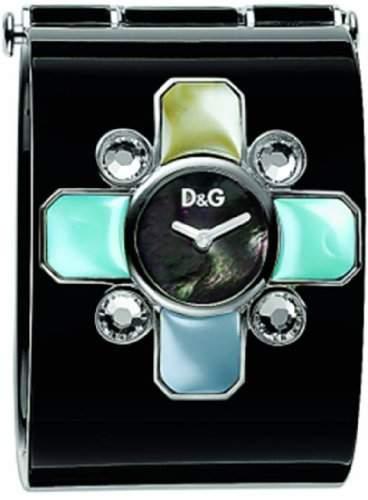 D&G Dolce&Gabbana Damen-Armbanduhr EDEN ROC BKACK BANGLE BLACK MOP DIAL SS CLOSURE DW0435