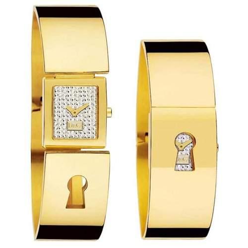 D&G Dolce&Gabbana Damen-Armbanduhr Spy Me Gold DW0255