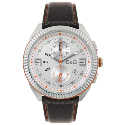 DOLCE & GABBANA Armbanduhr LOU Herren Uhr Markenuhr Chronograph Leder D&G DW0033