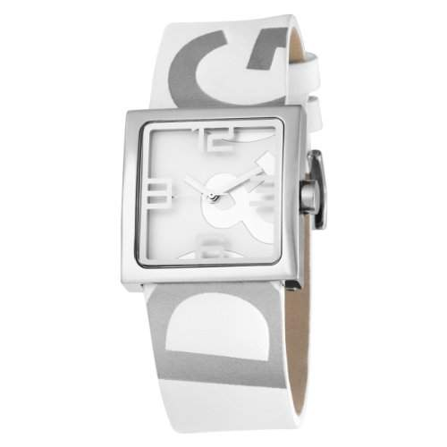 D&G Dolce&Gabbana WATCH ANDY LADY SLVWHITE DIAL WHITE STRAP DW0036 Damen