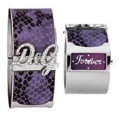 D&G Dolce&Gabbana Damen-Armbanduhr EdelstahlLeder medium
