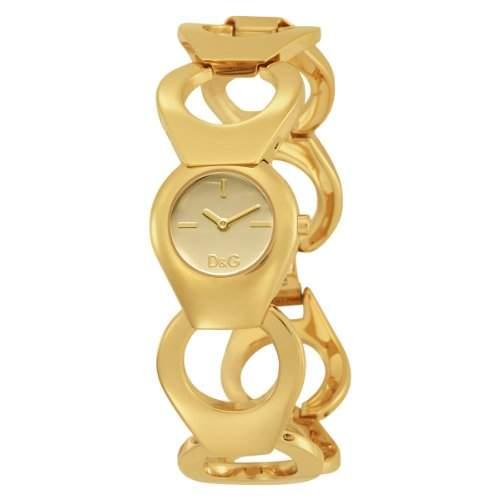D&G Dolce&Gabbana Damen-Armbanduhr FLATHEAD IPG CHAMPAGNE DIAL BRC DW0171
