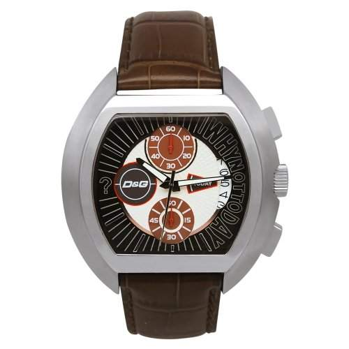 D&G Dolce&Gabbana Herren-Armbanduhr HIGH SECURITY BROWN DIAL BROWN STRAP DW0213