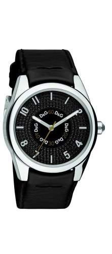 D&G Dolce&Gabbana Damen-Armbanduhr SANDPIPER LDY 3H BLK DIAL BLK STRAP DW0261