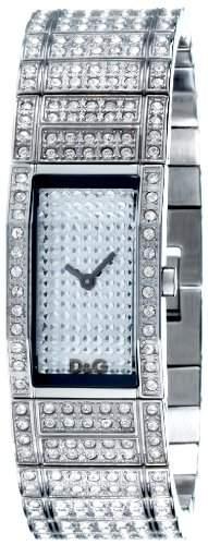 D&G Dolce&Gabbana Damen-Armbanduhr FESTIVAL SLV FAKE PAVE DIAL BRC FULL OF STONES DW0275