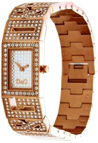 D&G Dolce&Gabbana Damen-Armbanduhr SHOUT 2 LOGOS LDY IPR FAKE PAVE DIAL STONES BR DW0288