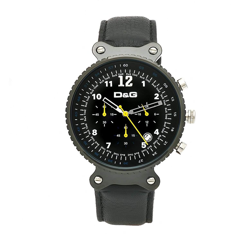 D&G Dolce&Gabbana Herren-Armbanduhr RYTHM MAN CHR IP BLK DIAL BLACK STRAP DW0306
